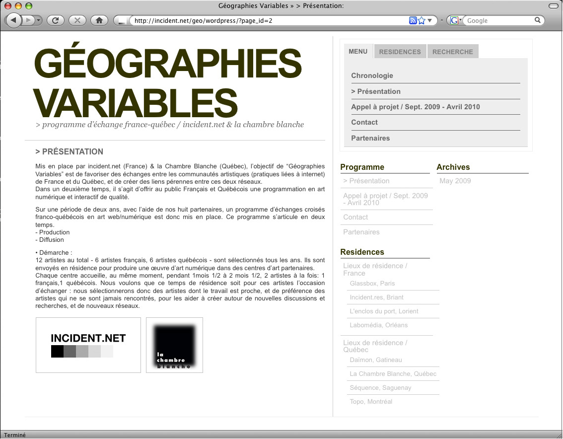 geographies variables