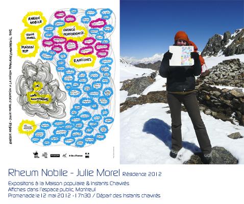Julie Morel, projet artistique Rheum Nobile - la maison populaire 2012