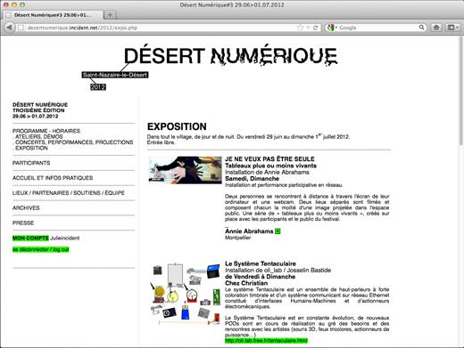 Desert numerique, festival à St Nazaire le desert