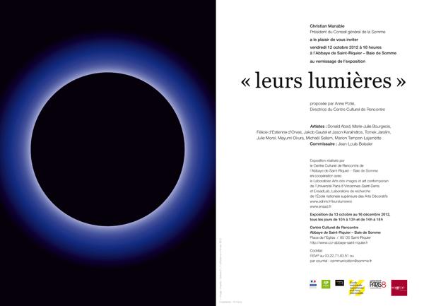 """Julie Morel - Exposition """"Leurs lumières"""""""